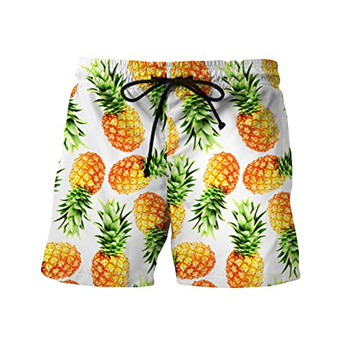 UJUNAOR Männer Sport Shorts Fitness Strandhosen Atmungsaktive Freizeit Pants Sommer Mode Herren Bodybuilding Kurze Hosen(Gelb,X-Large)