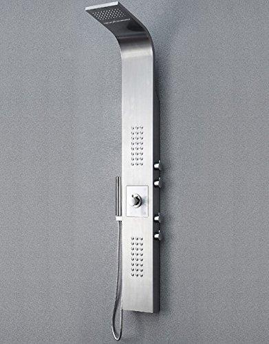 Edelstahl Duschpaneel Thermostat mit Massagejets & Wasserfall