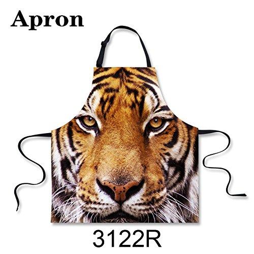 Tiger Helle Kostüm - spArt Tiger Printed Schürze, kreative Bild Celebration Lätzchen justierbares Ansatz Partei Cosplay-Kostüm für Mann und Frau, Tiermuster