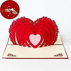 Idea Regalo - Carta per San Valentino,Deesos Compleanno regalo per i parenti, Amici e amanti speciali, biglietto di auguri pop-up 3D con bella carta tagliata