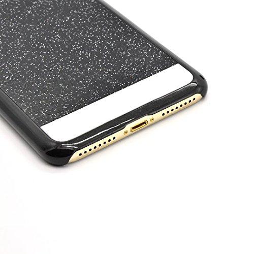 iPhone 7 Handyhülle, iPhone 7 Schutzhülle, Vandot Diamant Bling Glitzer Hülle iPhone 7 PC Hart Case Cover mit Kratzfeste Stoßdämpfende Luxus Ultra Dünn Handytasche Handy Schutz Schale Tasche Bumper fü Schwarz