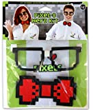 Elope Pixel-8 Nerd Costume Kit Adult One Size