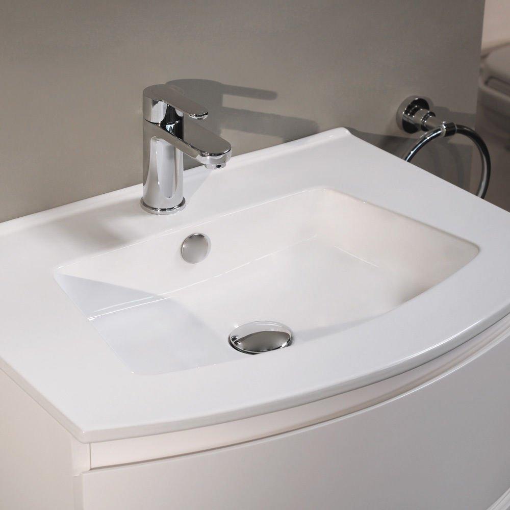 Inset wash basin vanity basin washbasins - 600 Vanity Unit Basin With Cabinet White 5 Styles Of 600 Vanity Units Storage Cabinets With Inset Basins Contemporary Soft Close Gloss Designer Floor