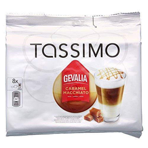 Tassimo Gevalia Kaffee Caramel Latte Macchiato, Kaffeekapsel, 16 T-Discs Tassimo T-discs Gevalia