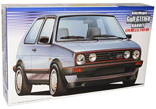 VW VOLKSWAGEN GOLF II 2 GTI 3 TÜRER SILBER SILVER BAUSATZ KIT 1/24 FUJIMI MODELLAUTO MODELL AUTO