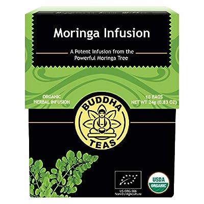 Buddha Teas Moringa Thé bio - casher, sans caféine, sans OGM, eau de javel Sacs de thé gratuit, 18 Count 1 18 CT