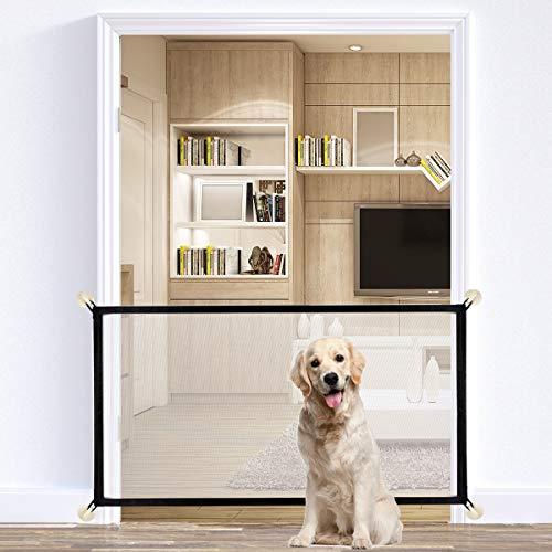 U-picks Hundebarrieren, Magic Gate Faltbar Hunde Türschutzgitter Tür- & Treppengitter für Babys, Hunde & Katzen, 180 x 75 cm