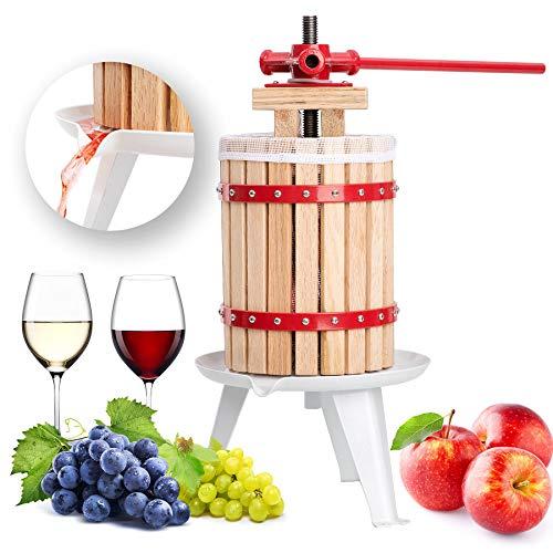 Exprimidor de madera dura para hacer sidra de vino, manzana, 6 12 18 litros, 6 l, 12 l, 18 l 6 L rosso...