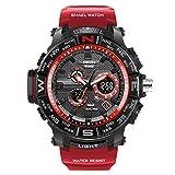 AnazoZ Reloj Deportivo Reloj de Estudiante Reloj Hombre Reloj Multifunción Reloj Impermeable Relojes Electronicos Rojo