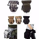 CAMTOA Tactical Hip Bag Hüfttasche Beintasche,Sport Taktische Airsoft Militär Tropfen Bein Schenkel Bag Dienstprogramm Gürtel Tasche Beinbeute Schwarz
