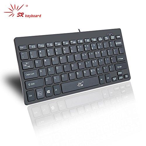 SR Mini teclado Inglés diseño Wired Thin portátil 78 teclas USB Multimedia pequeño para PC ordenador portátil