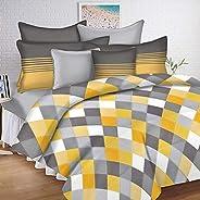 Ahmedabad Cotton Fitted Single Bedding Set, Multi-Colour, 150 cm x 228 cm, CSVB144SFIS_30K75, Set of 2