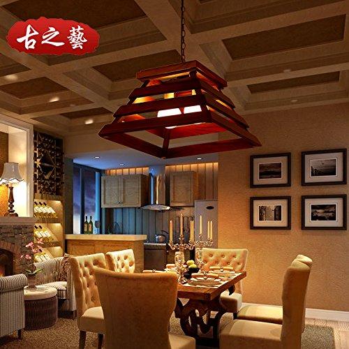 Lx.az.kx e27 moderno lampade a sospensione retro vintage industriale stile antiquariato cinese american rustico pendente in legno chiaro ristorante luce mahjong le luci della barra luminosa lounge lampade,