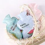 janedream 1Hot Water Bag Flasche Cute Lecksicher Sicher Warm Weihnachten Geschenk zufällige Farb