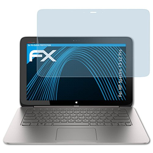 atFolix Schutzfolie kompatibel mit HP Spectre 13 x2 Pro Folie, ultraklare FX Bildschirmschutzfolie (2X)