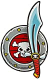 Nick and Ben Piraten-Schwert 53 cm und Seeräuber-Schild 33 cm Set aus Eva Soft Schaum schadstoffgeprüfte Spielzeug-Waffen für Kinder