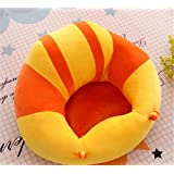 MAD DECOR HOUSE Cotton Toddlers Training Seat Baby Saftey Sofa Dinning Chair Learn to Sit Stool Yellow Orange