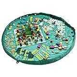 Kangaroobaby Aufbewahrungsbeutel Organizer Kinder Aufräumsack Spieldecke Spielzeug Aufbewahrung (40, grün)