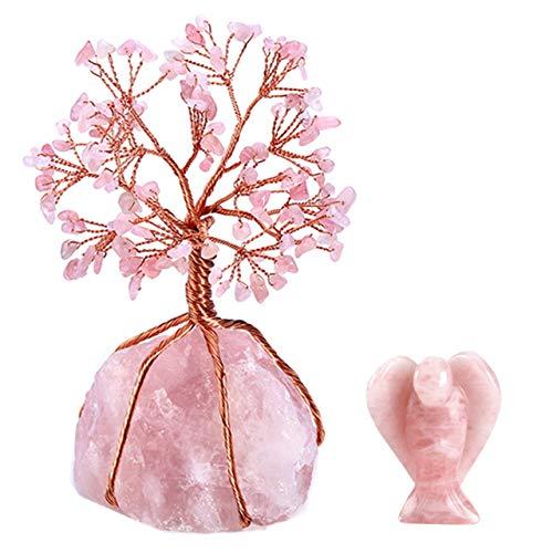 CrystalTears Edelstein Baum des Lebens Dekoration Wire Wrap Trommelsteine Lebensbaum +Fengshui...