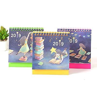 Dibujos Animados Pequeño Escritorio Calendario Creativo Simple Plan De Escritorio de SMAQZ