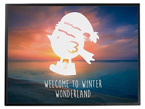 Mr. & Mrs. Panda Schreibtischunterlage Weihnachtspinguin - Pinguin, Pinguine, Wintervogel, Vogel,...