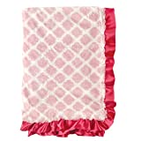 Hudson Baby Fur Blanket with Satin Ruffl...