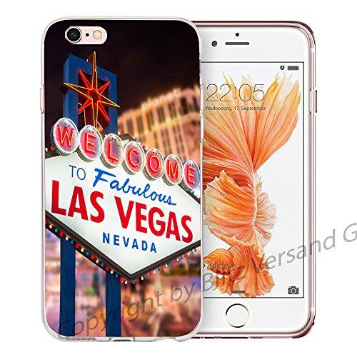Blitz® NEW YORK motifs housse de protection transparent TPE caricature bande iPhone Cerf dans la montagne M13 iPhone 7 7s Las Vegas M3