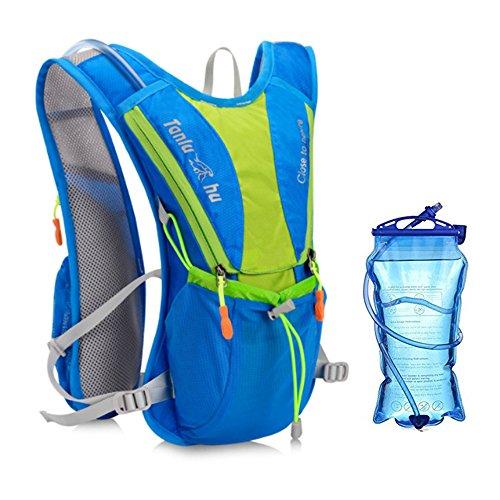 Home-Neat Trinkrucksack, Ultralight Laufrucksack, Fahrradrucksack 2L Trinkblase Pack(Nicht enthalten), Ideal für Radsport, Laufen, Joggen (Blau) -