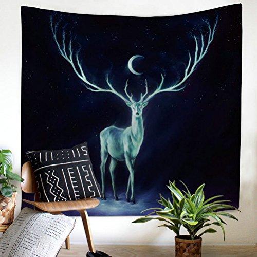 Gudoqi cervo tappezzeria hanging per pareti dormitorio poliestere per la camera da letto beach sheet panno da tavola