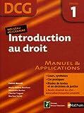 Introduction au droit DCG Epreuve 1 : Manuel et applications