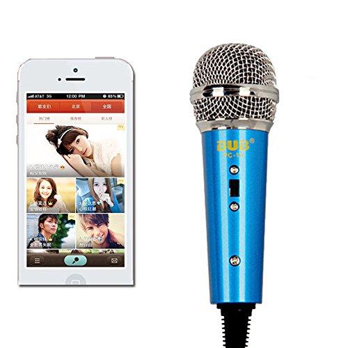 fletion Multimedia Studio Kondensator Wired Mini Mikrofon mit Desktop-Ständer und 3,5mm Kopfhörer Splitter-Adapter für Telefon/MEETING/Singing/Rede/Vocal/Skype/MSN -
