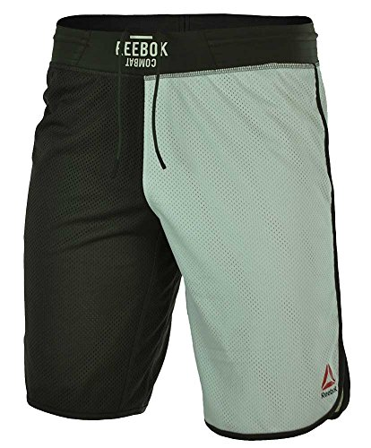 Reebok TLAF Boxing Short Combat Cross Training Hombres corto SpeedWick Shorts Blanco, Tamaño:L