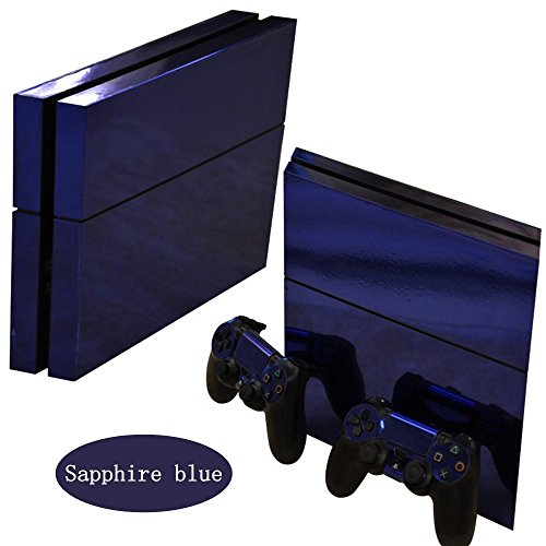 or-glossy-decalgirl-skin-autocollant-for-playstation-4-ps4-console-controleur-bleu