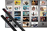 1art1® Poster + Suspension : James Bond 007 Poster (91x61 cm) Contre Dr. No À Skyfall, 23 Films Et Kit De Fixation Noir
