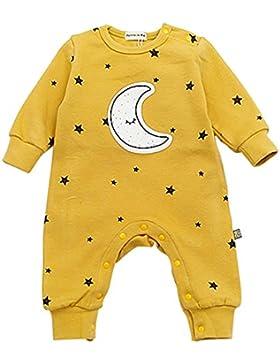 Bebone Baby Strampler Jungen Mädchen Overall Stern und Mond Babykleidung