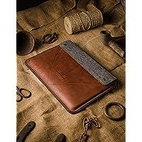 Funda/Cubierta para MacBook Pro 13/15/16 pulgadas 100% fieltro de lana hecho a mano, cuero estilo Crazy Horse marrón, funda/cubierta/bolso para portátil MacBook Pro Air 13, Crazy Horse Craft