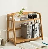 ZMSJ-YJ Tisch Bücherregal Lagerregale Einfache Tabelle auf Dem Tisch Student Multifunktions-Bambus Bücherregal Bücherregal (Größe : 53 * 24 * 42cm)