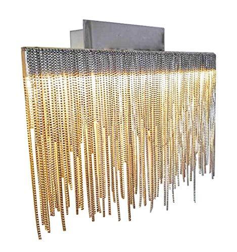 Satin Nickel-chrom-kronleuchter (KosiLight - Dekorativen LED Wandleuchte Nickel Satin - Phoenix - Silber/Chrom - 720 lm - Aluminium - IP20 - A)