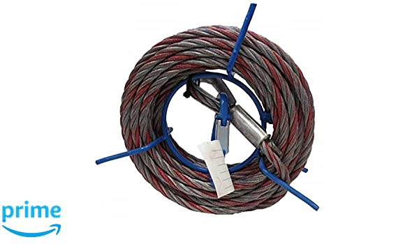 10 m Tractel Maxiflex C8 Wire rope with Hook 8.3 mm Diameter