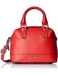 Aquatan Women's Headturner Mini Leather Satchel Red AT-S-36