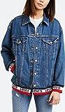 Levis Damen Jeansjacke Baggy Sport Tape Trucker 57758-0000 Blau, Größe:S