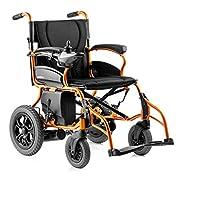 Isa Silla de Ruedas eléctrica Plegable Portátil Inteligente Ligero Ligero Movilidad Mayor Scooter con batería.