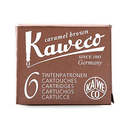 1x Kaweco 6Patronen Tinte Sepia Marron, Füllhalter Ka cart017015sepia (Namiki Füllhalter)