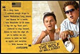 The Wolf of Wall Street Poster Awesome (62x93 cm) gerahmt in: Rahmen schwarz