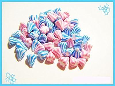 60 berlingots miniatures en fimo pâte polymère pour fiole