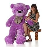 #4: GTC Soft Teddy Bear Birthday Gift for Girlfriend/Wife Happy Birthday Teddy Soft Toy 3 Feet Long (92cm) (Purple)