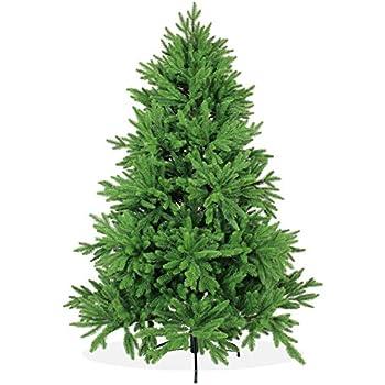Künstlicher Weihnachtsbaum 180cm DeLuxe in Premium Spritzguss Qualität, grüne Nordmanntanne, Tannenbaum mit PE Kunststoff Nadeln, wie echt wirkend, Nordmannstanne Christbaum, Edeltanne