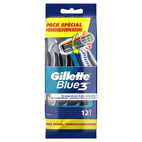 Gillette Blue3 Rasoirs Jetables Pour Homme – Lot De 12