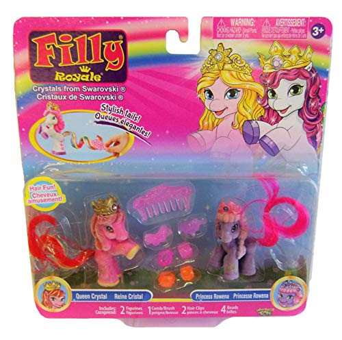 Filly Dracco Pferdchen Royal Spiel- und Sammelfiguren 2er-Set für Kinder, Mädchen (Queen Crystal + Princess Rowena)