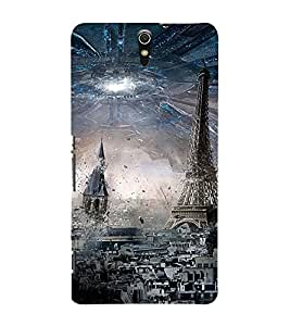 PrintVisa Designer Back Case Cover for Sony Xperia C5 Ultra Dual :: Sony Xperia C5 E5533 E5563 (Paris Eiffel Tower Pic)
